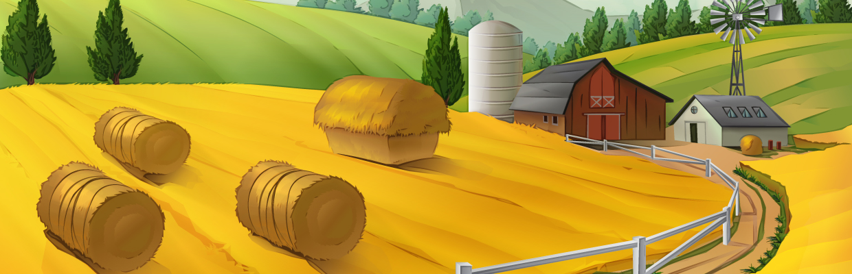 illustrated farm imagery